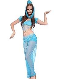 Blau Arabische Prinzessin Jasmin Bauchtaenzerin 1001 Nacht Harem Kostuem Fasching Karneval Halloween