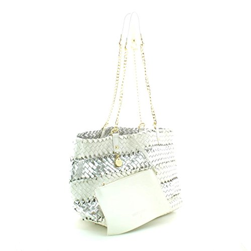 Patrizia Pepe Color Weaving Sac à main 2V6384-A1ZT-B519 Blanc