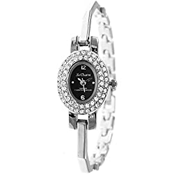 Oval watch Silver So Charm Made with Swarovski Crystal from
