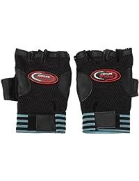 TeeMoods Men's Solid Black Bike Gloves