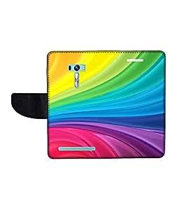 KolorEdge Printed Flip Cover For Asus Zenfone Selfie ZD551KL Multicolor -(1479-55KeMLogo12077ZenSelfie)