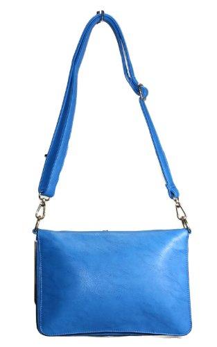 citydress24, Poschette giorno donna blu Piccolo blu