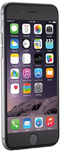 Apple iPhone 6, 4,7in Display, SIM-Free, 64 GB, 2014, Space Grau (Generalüberholt)