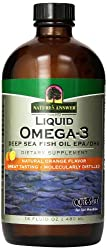 Nature's Answer, Flüssiges Omega-3, Tiefsee-Fischöl EPA/DHA, Natürliches Orangenaroma, 480ml
