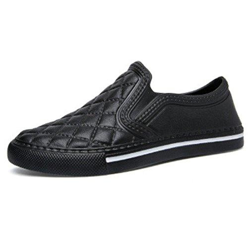 Men's Zapatos Hombre Slip On Outdoor Casual Shoes LA603M black