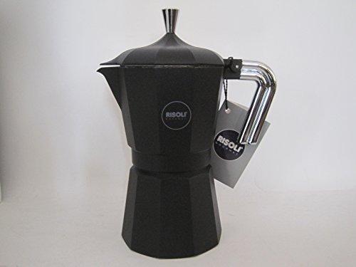 RISOLI'-CAFFETTIERA 6 TAZZE NERA
