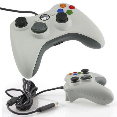 WHITE VIDEO GAMES ACCESSORY USB WIRED CONTROLLER JOYPAD GAMEPAD FOR MICROSOFT XBOX 360 PC WINDOWS Win 7, [Importado de Reino Unido]
