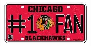 Unbekannt NHL #1 Fan Kennzeichen Metall-Schild New York Rangers, Team Colors, Einheitsgröße