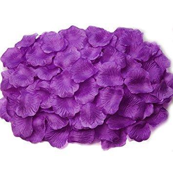 senblüten Rosenblätter Blumenblätter aus Seide Kunstblumen für Hochzeit Feier Deko Valentinstag romatische Überraschung (Lila) ()