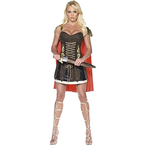 Kostüm Römischer Krieger Frau - Sexy Gladiatorin Kostüm Kriegerin Kleid S 36/38 Gladiatorinnen Damenkostüm Römerin Verkleidung Kämpferin Outfit Damen Römerkostüm