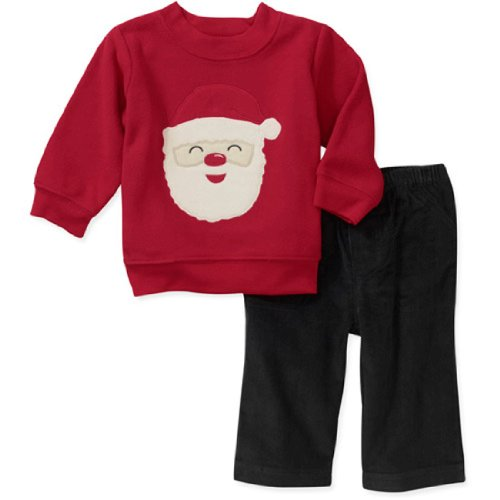 Carter's child of mine Baby Outfit Fleecepullover Cordhose Weihnachtsmann (0-24 Monate) Santa (50/56) Carters Fleece-outfit