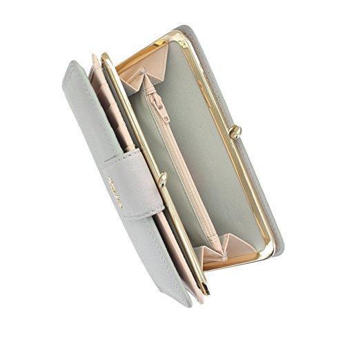 Tula liscio ORIGINALS Ladies Leather Clip Frame superiore Borsa 7658 Mouse Mouse