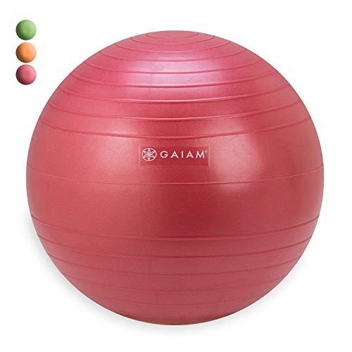Gaiam kids balance ball chair–sedia classica bambini palla di stabilità, bambino classroom scrivania sedere, 05-62682, pink (replacement ball), 35 cm