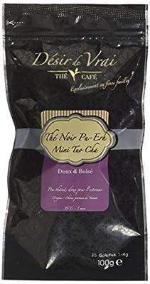 Désir de Vrai Thé Noir Pu-Erh Mini Tuo Cha 25 Galettes de 3-4 g Chine N° 40 100 g - Lot de 3