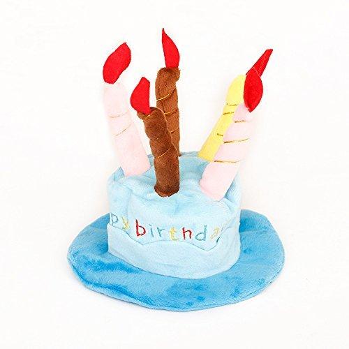 Hüte mit Kuchen, für Welpen kleine mittlere Katzen Hunde, blau lanyarco (Rosa Bandana Party Supplies)