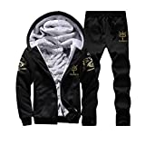 UFACE Mens Hoodie Winter warme Fleece Zipper Sweater Jacke Outwear Mantel Top Hosen Sets