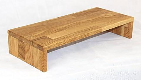 Tischaufsatz aus Massivholz Eiche geölt, Bildschirmerhöher, TFT-Ständer, Tischablage, Monitorständer