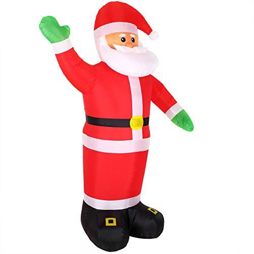 Monzana Aufblasbarer Weihnachtsmann | XXL 250cm | LED beleuchtet | inkl. Befestigungsmaterial | Weihnachtsdekoration Nikolaus ()