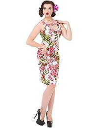 Hearts & Roses MAUREEN Floral Vintage Hibiscus Wiggle PENCIL DRESS Kleid