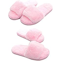 Matchstix fur slippers for girls fur slippers for kids, fur slip ons