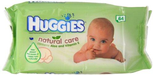HUGGIES Natural Care Aloe Vera Baby Wipes No Alcohol 64 Sheets 64WIPES