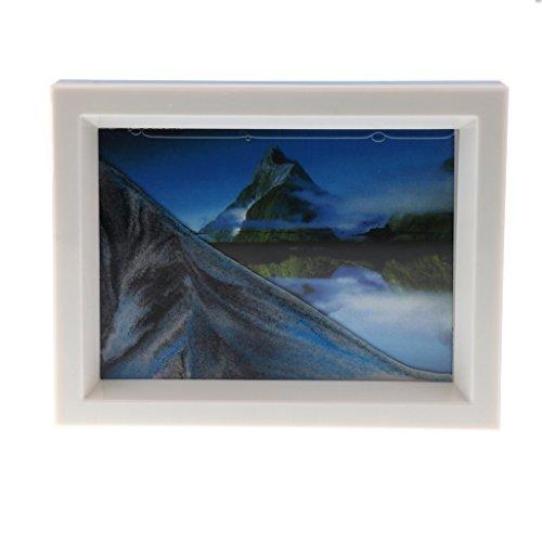 Sharplace Schöne Sandbild Bilderrahmen - Bewegte Flüssige Sandbilder - Fließende Sand Zeichnung - 17 x 13 cm - # 5