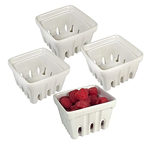 Artland Berry Basket, White, Set of 4 by