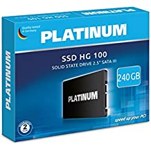 """'Platinum 125840""""HG de 1006,4cm (2,5pulgadas) Disco Duro Interno SSD 240GB para portátil, laptop y PC, SATA III"""