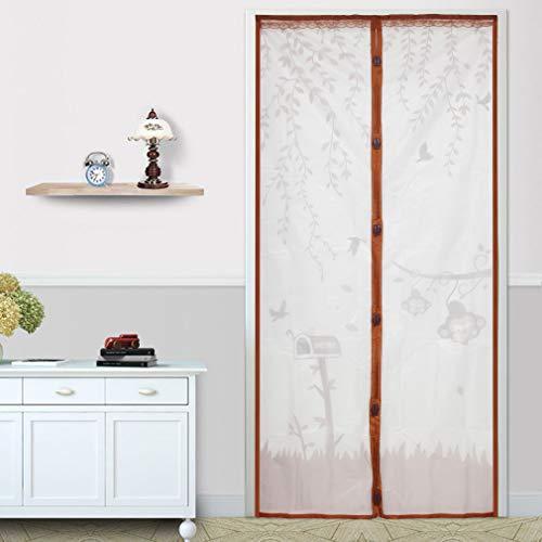 Vaugan Moskitonetz-Vorhang, magnetisch, 90 x 210 cm, Kaffeebraun, 90 * 210