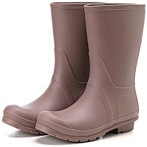 autunno e in inverno Inghilterra Matt Antiscivolo Impermeabile Signora Stivali da pioggia coffee