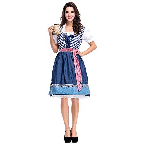 Deutsch Kleid Dirndl Kostüm - JstDoit Frauen Dirndl Kleid Formelle Kleidung, Beergirl Damen Kostüm Deutsche Bayerische Dirndl Kostüm