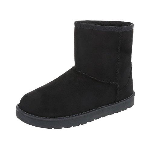 Stiefel & Boots Kinder-Schuhe Klassischer Stiefel Mädchen Ital-Design Stiefeletten Schwarz, Gr 30, 781-1-