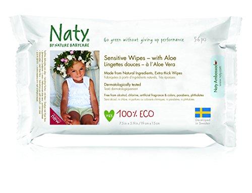 Naty by Nature Babycare Öko Feuchttücher mit Aloe Vera, 12er Pack (12 x 56 Stück) - 5