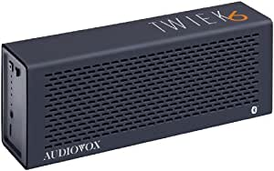 Audiovox Twiek 6 Bluetooth Stereo Lautsprecher schwarz