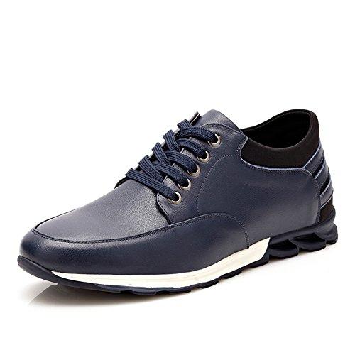 scarpe sportive per il tempo libero/ scarpa/Traspirante scarpe/Joker/Scarpe crescente altezza-A Lunghezza (Nero Smooth Pu Bambini Scarpe)