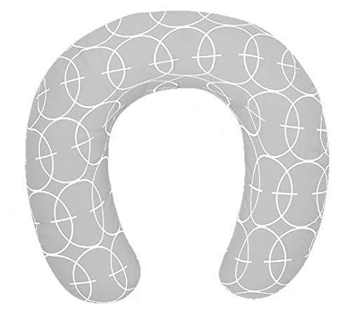 Interbaby - Cojín Lactancia Grande Círculos Interbaby Gris 80 x 80 cm.