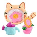 STOBOK 4 Teile / Satz Kinder Baby badespielzeug Bath Squirters (Cat Dredge + Duschkopf)