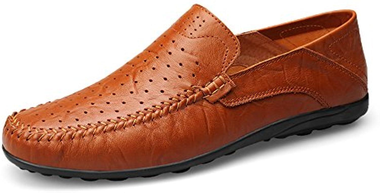 Jiuyue-scarpe Mocassini da Uomo Slip On On On Driving Loafer Fashion Design Soft Casual Slipper (Coloree   rosso Marronee Hollow...   Prezzo Pazzesco    Sig/Sig Ra Scarpa  c0d924