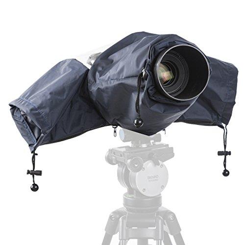 Cover anti-pioggia impermeabile in nylon Movo CRC01 con manicotti per fotocamere reflex digitali Canon EOS, Nikon, Sony, Olympus, Pentax e Panasonic