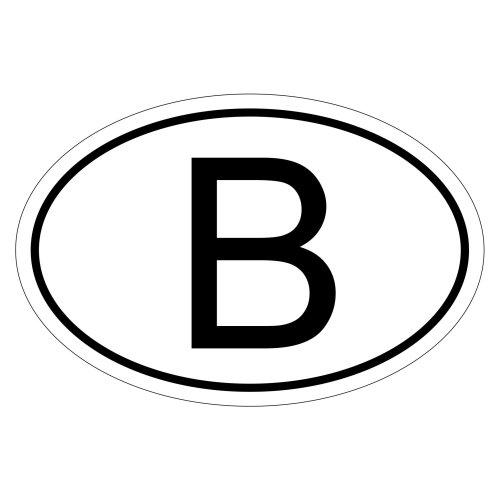 Belgien B 15 x 10 cm Autoaufkleber Sticker Aufkleber KFZ Flagge