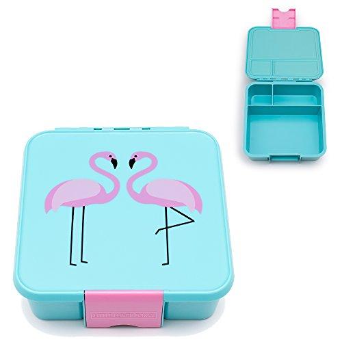 Little Lunch Box Co. Brotdose für Kinder mit Unterteilungen | Bento Box (Bento 3 - Flamingo)