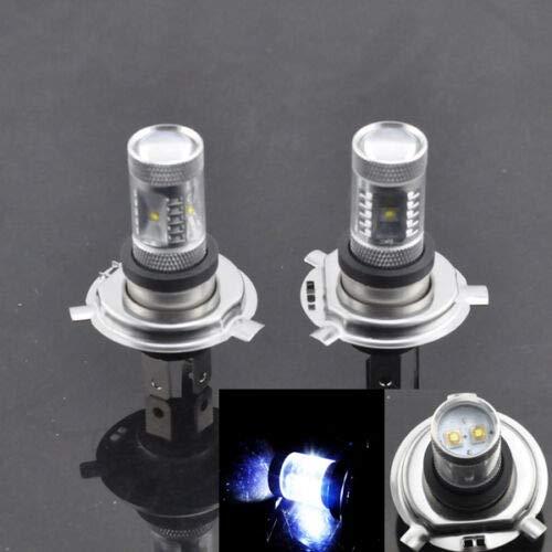 2 lampadine a LED CREE H4 HB2 9003, 30 W, colore bianco, 6000 K, luce diurna da 12 V