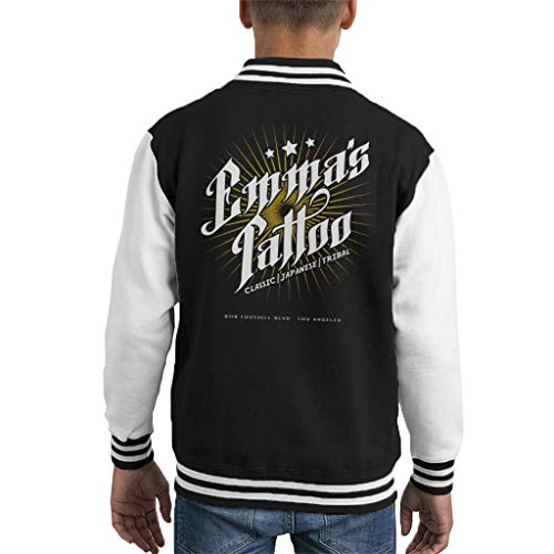Emmas Tattoo Once Upon A Time Kid's Varsity Jacket (Jacket Upon Time Once A)