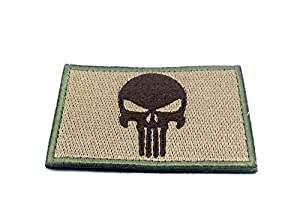 Punisher Kaki Brodé Patch Airsoft