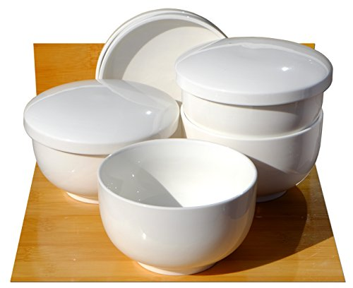 Mushi sopa cuencos blanco cerámica 11cm x 4