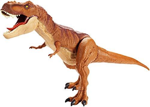 Mattel FMM63 - Jurassic World Riesendino Tyrannosaurus Rex, riesiger T-Rex Dinosaurier, ca. 90 cm (Jurassic World Dinosaurier)