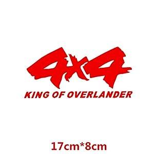 HANO 4x4 Off-Road King of Overlander SUV 4WD CarCreative Abziehbilder Auto Tuning Styling Wasserdicht 17 * 8cm & amp; 25 * 12cm D11: 17x8 Red