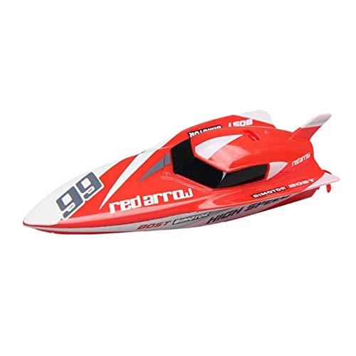 RC Boot für Kinder und Erwachsene High Speed   30KM / H Fernbedienung Spielzeugboot für Seen und Flüsse 2.4GHz Selbsteinstellende wasserdichte Fernbedienung Elektrisches Schnellboot mit Batterie,Red