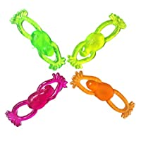 TOYANDONA 24pcs Flying Slingshot Frogs Tricky Toys Stretchable Flying Toys Decompression Toy for Children Adult (Random Color)