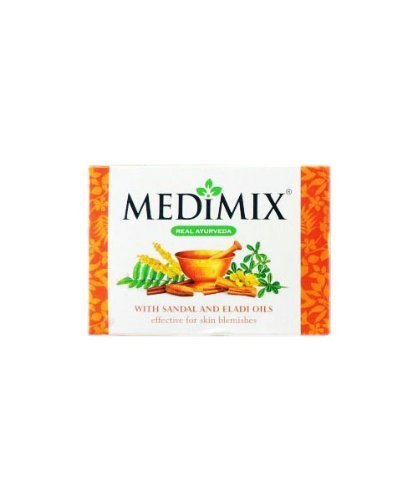 3 x Medimix Ayurvedic Herbal Soap with Sandal & Eladi Oils 125g x 3 (Pack of 3) Effective for Skin Blemishes*Ship from UK by Biotique